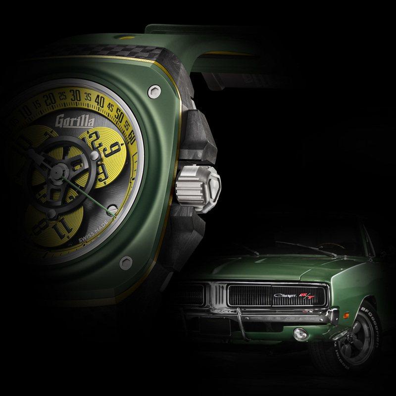 表款鮮豔的綠、黃對比,靈感源自英國跑車綠(British Racing Green)。圖 / Gorilla提供