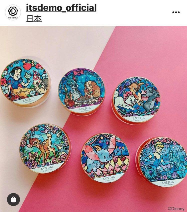 日本美妝雜貨品牌ITS'DEMO與MISSHA再度攜手推出限定版迪士尼彩繪玻璃風...