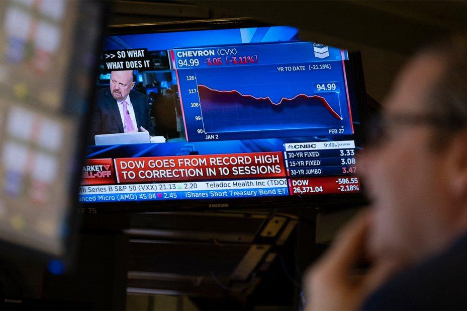 美股連日重挫,跌勢止不住,本周跌幅恐為2008年金融海嘯以來最大。  美聯社