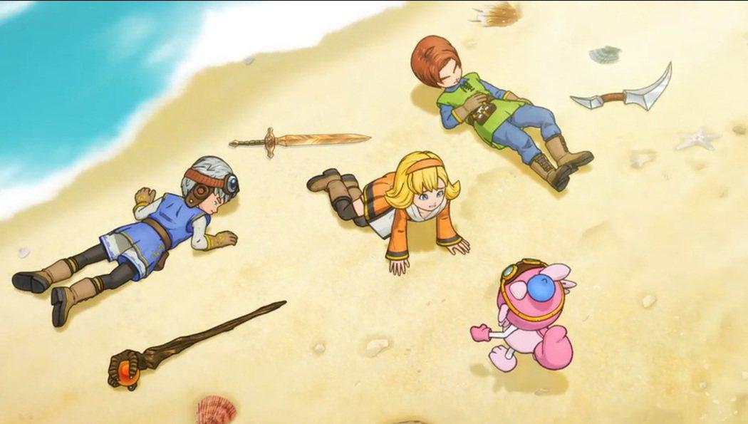 遊戲裡面充滿 DQ 的元素,鳥山明老師的繪圖讓人愛不釋手。