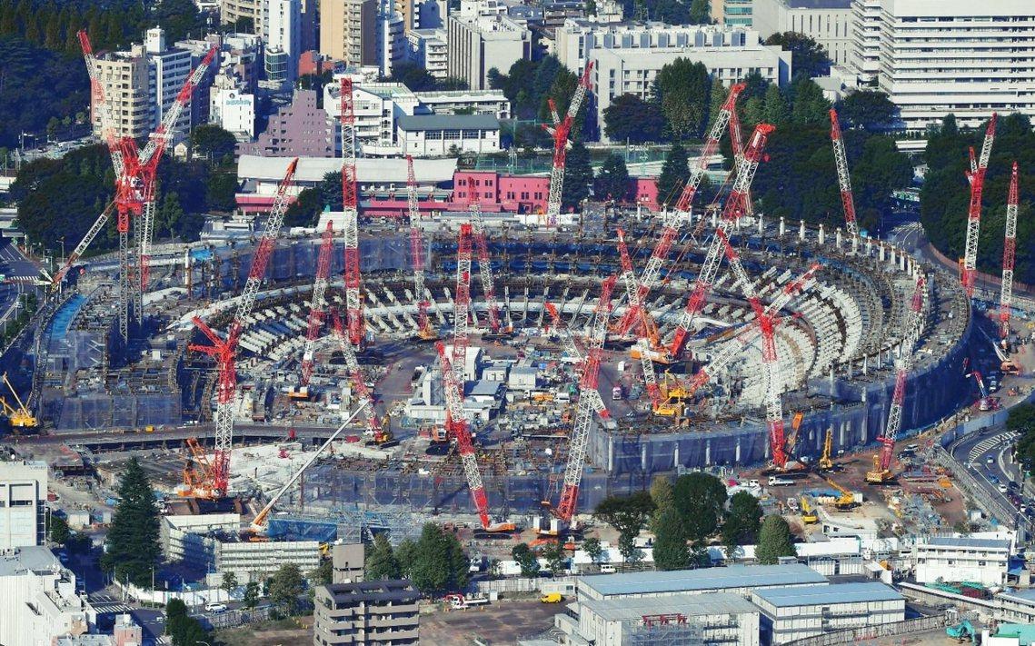 在《AKIRA》劇中,還在建設中的東京奧運用地是劇情關鍵的位置。圖為2019年1...