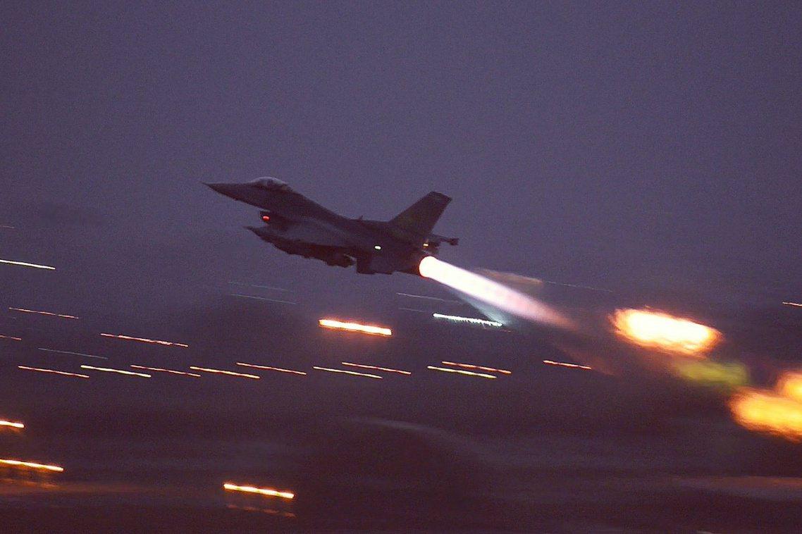 資料圖庫,示意出擊的土軍戰機。 圖/土耳其空軍