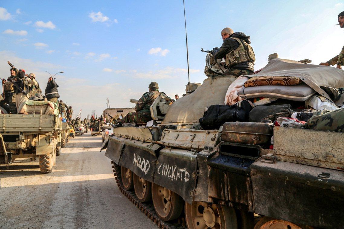 敘利亞政府軍。 圖/歐新社