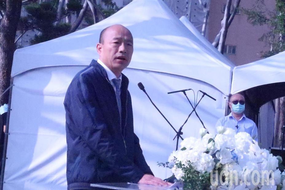 高雄市長韓國瑜在二二八事件追思紀念會致詞時,誤將「二二八」追思紀念會,講成「八二三」追思紀念會,「謝雪紅」講成「王雪紅」。記者徐如宜/攝影