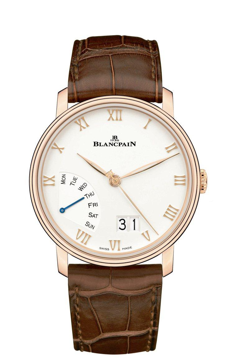 Blancpain,Villeret大日期逆跳星期腕表,玫瑰金,40毫米,72小...