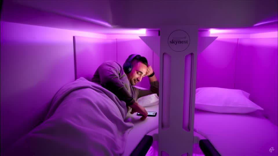紐西蘭航空25日宣布,將在10月登場的奧克蘭直飛紐約航班推出經濟艙乘客可增購的新...