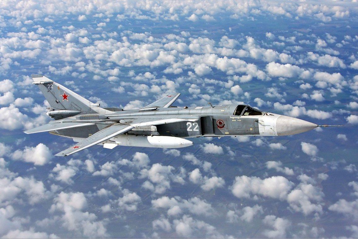 俄國空軍Su-24。 圖/俄國空軍