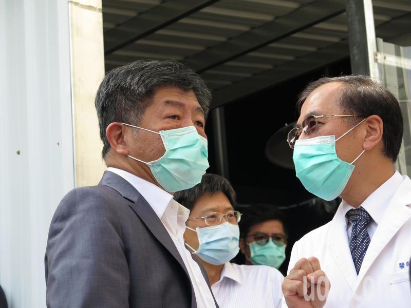 衛福部長陳時中今天到衛福部桃園醫院視導。記者張裕珍/攝影