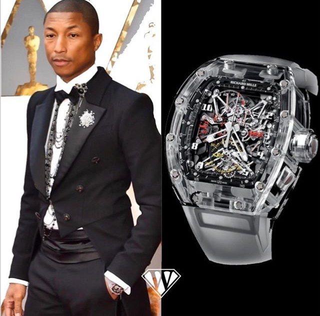 音樂潮人「菲董」Pharrell Williams近日被目擊配戴了一只RICHA...
