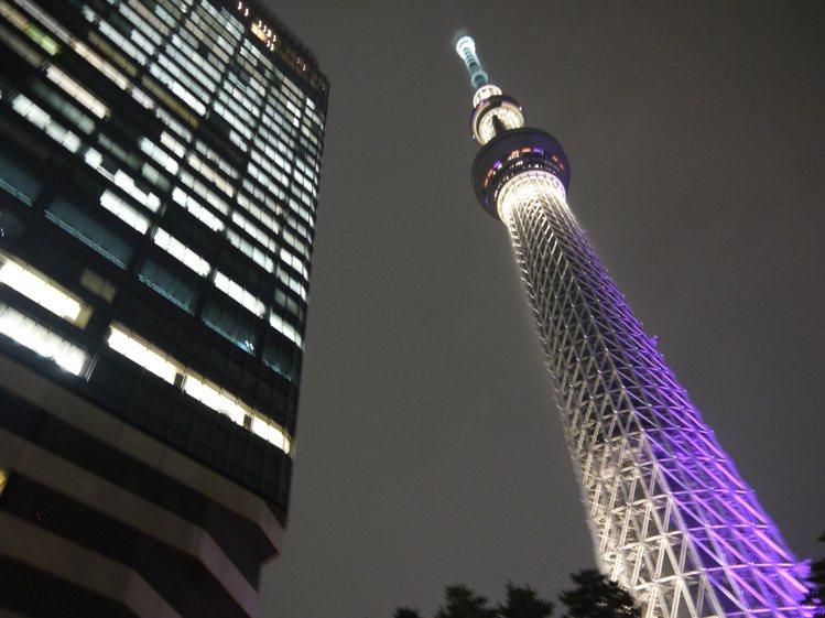 東京晴空塔。記者陳睿中/攝影