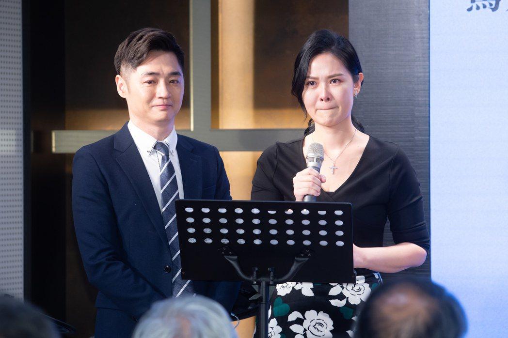 宋逸民、陳維齡在分享感言時數度感動落淚。記者季相儒/攝影
