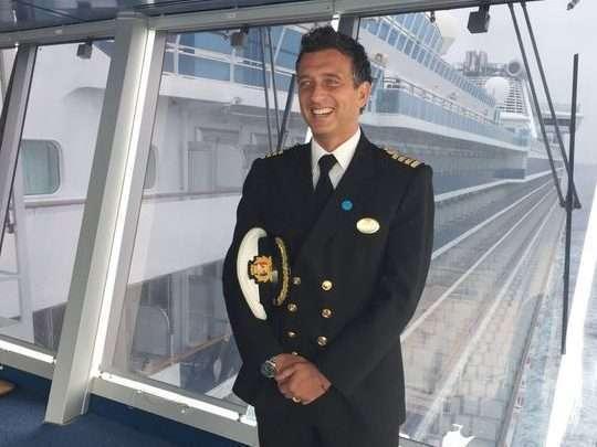 鑽石公主號船長阿勒瑪。圖/取自公主郵輪公司