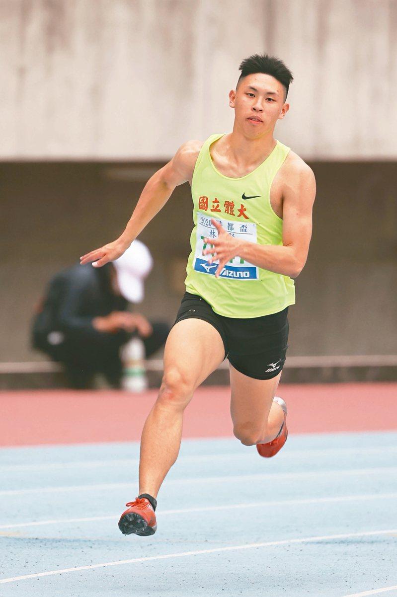 林祐賢昨在男子二百公尺如願達標亞青。 圖/中華田徑協會提供
