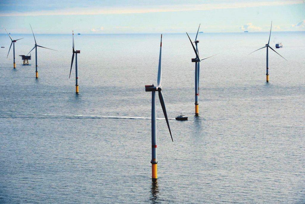 圖為沃旭能源在德國的Godewind風場。 (本報系資料庫)