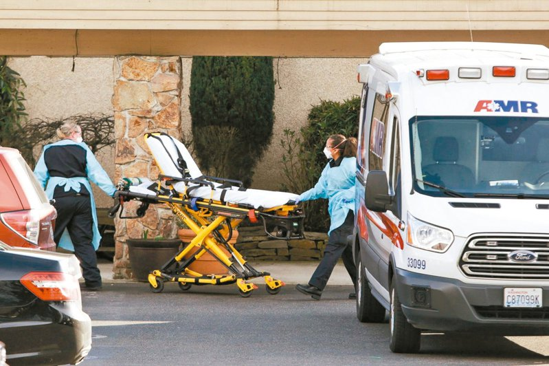 美國華盛頓州柯克蘭的長期療護中心Life Care Center出現一例新冠肺炎確診病例,並有一名工作人員感染。 法新社