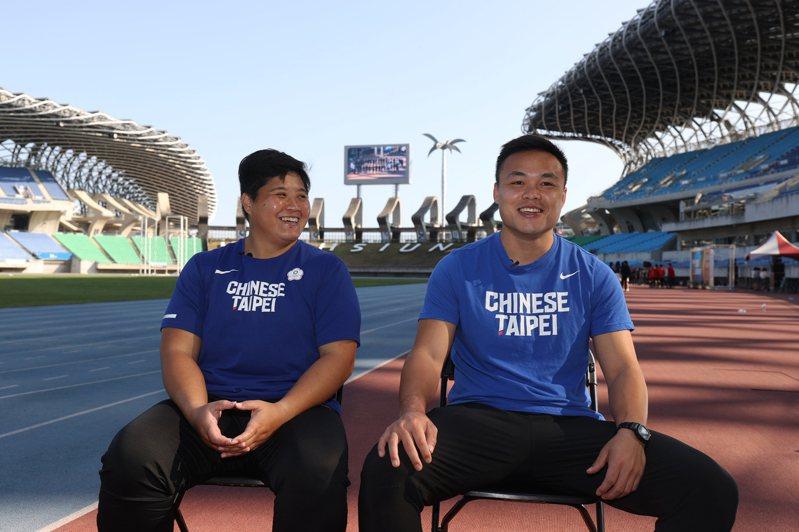 林家瑩(左)與鄭兆村。圖/中華田徑協會提供