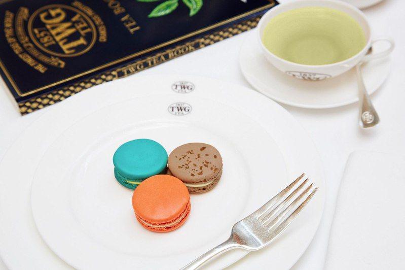 TWG tea限時於全台門市販售台灣獨賣的台灣茶香馬卡龍系列,共有3種口味。圖/取自TWG Tea Taiwan Region粉絲頁
