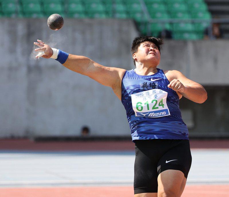 鉛球女將林家瑩。圖/中華田徑協會提供