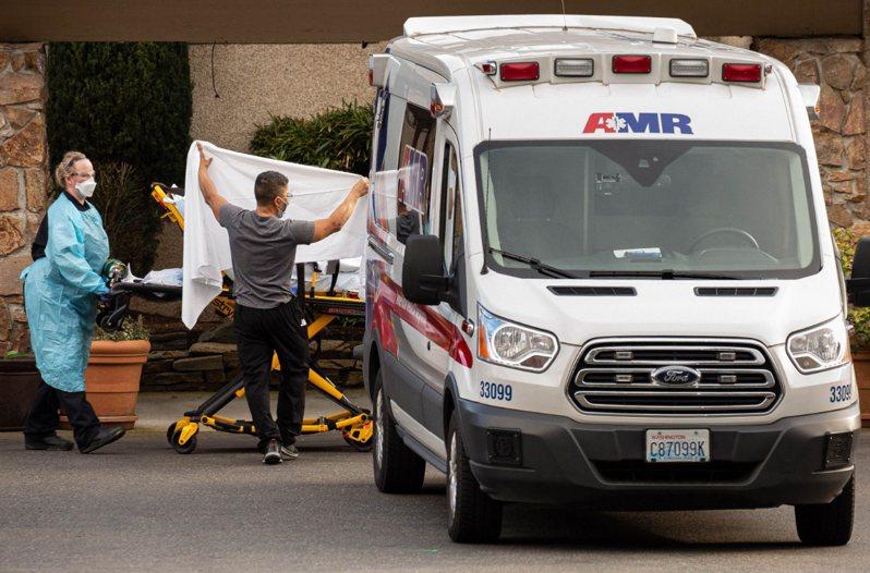 美國新冠肺炎疫情持續擴散。法新社