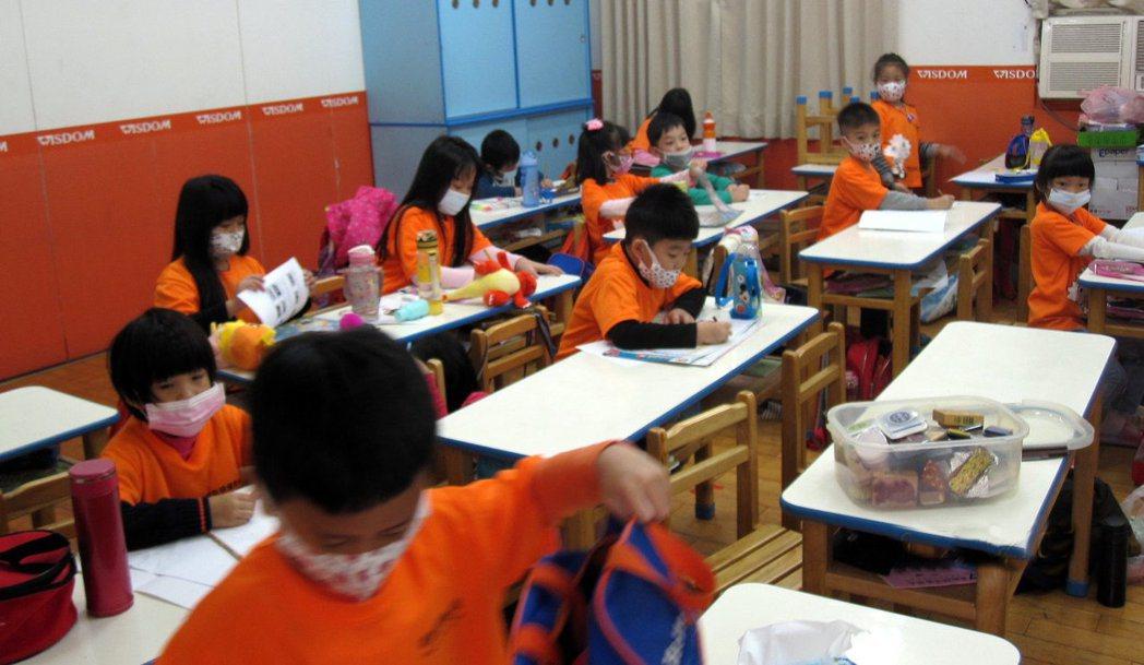 高雄市學校要求學生上課全程戴口罩,但仍有不少學生覺得不舒服。圖/高雄市教育局提供