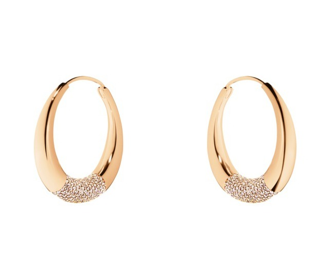 GEORG JENSEN AURA系列18玫瑰K金中央鋪鑲鑽石耳環(鑽石總重1....