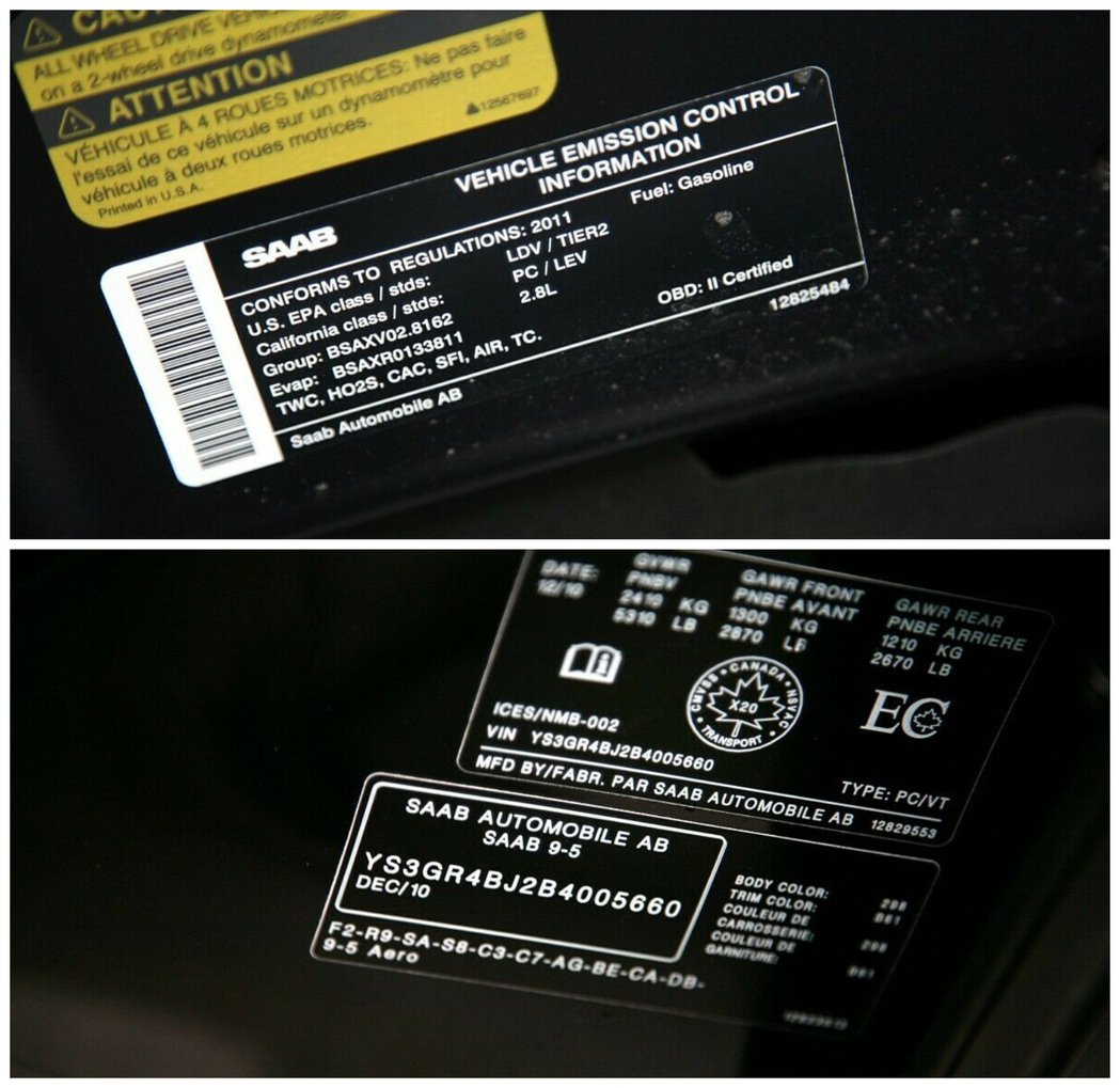 Saab原廠貼紙依舊健在。 摘自carscoops
