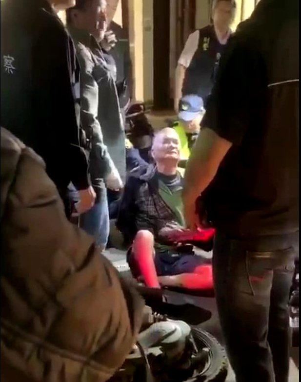 台南將軍槍殺案偵破, 金嫌(圖中)上月25日已在佳里落網。記者謝進盛/翻攝