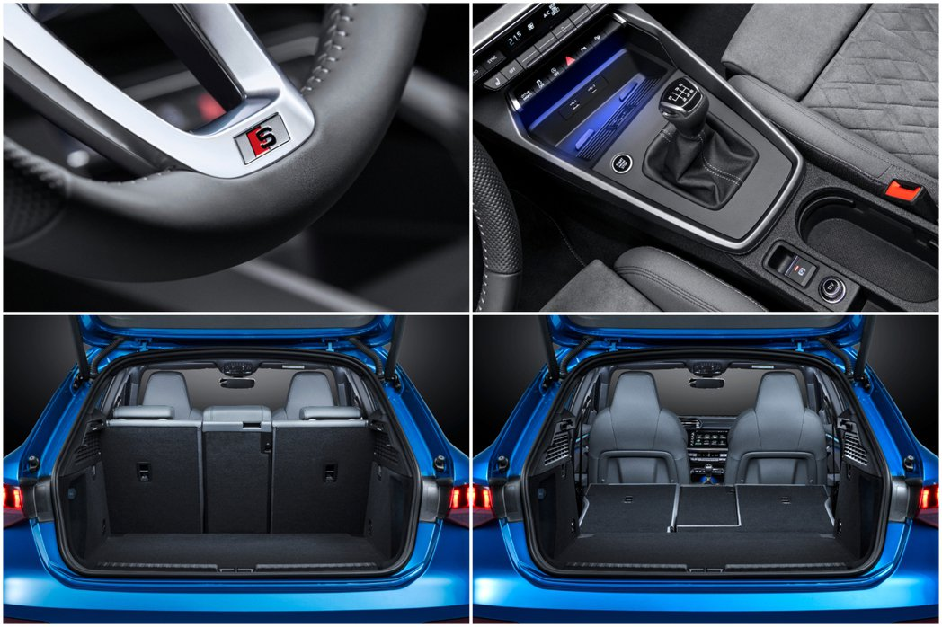 第四代Audi A3 Sportback行李箱容量可由基本的380公升藉由後排座...