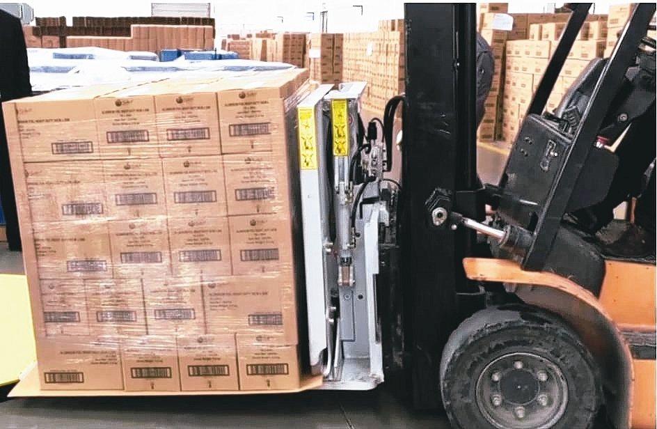 立重紙業「滑拖板」可靠、耐用省成本,是物流運輸的最佳選擇。 立重/提供