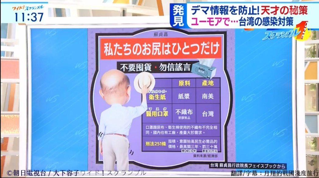 日本節目大讚這種幽默宣導方式。 圖/擷自月翔的戰國淺度旅行臉書