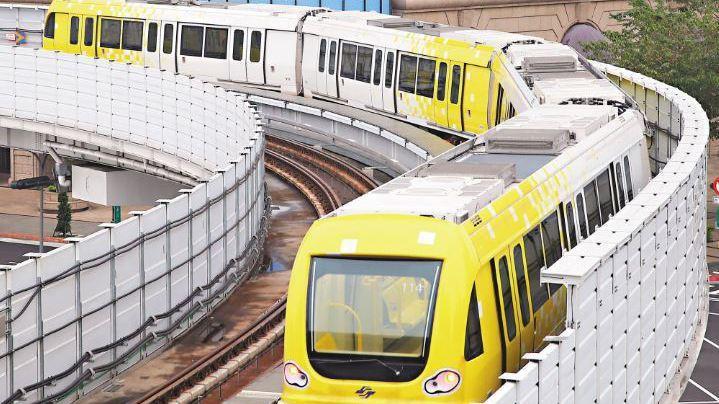 新北捷運環狀線。 報系資料照