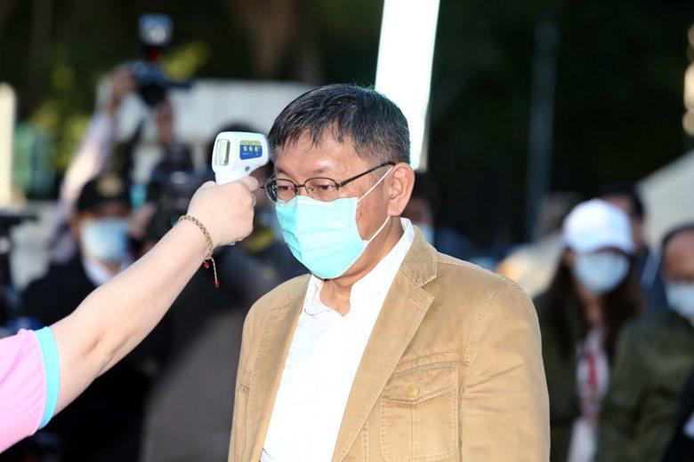 台北市長柯文哲在此波疫情的發言屢屢失當,並受輿論強烈批評。 圖/聯合報系資料照
