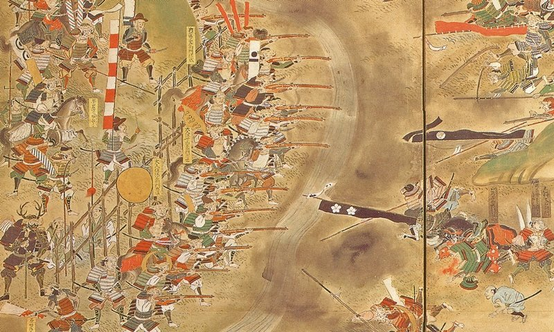 1575年,織田信長在長篠之戰大敗武田軍團。 圖/維基共享