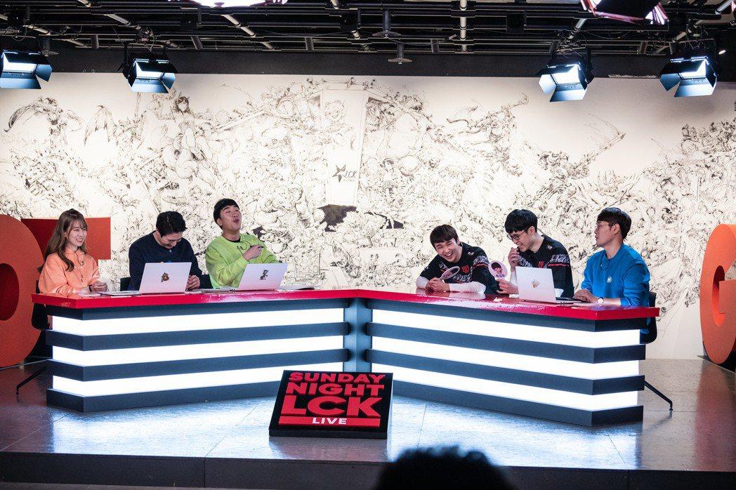 隨著LCK停賽,LCK脫口秀節目Sunday Night LCK也暫停播出/圖片...