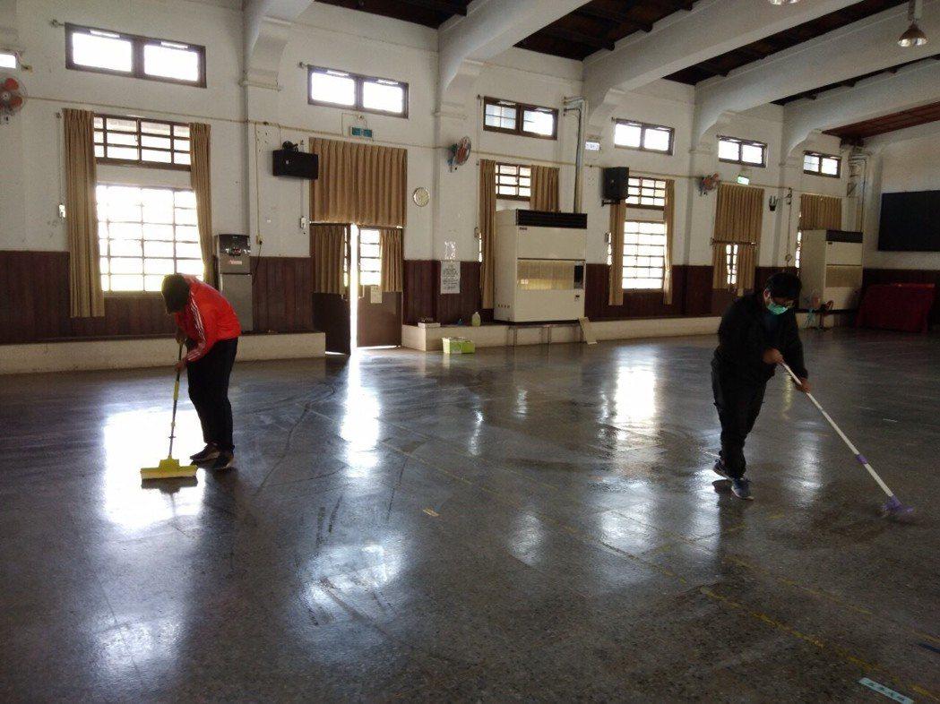 湖埔社區大學消毒教室空間。圖/湖埔社大提供