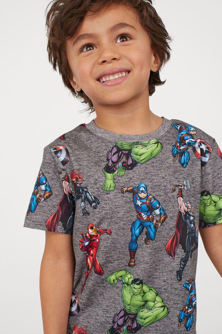 H&M這季以漫威英雄為主題,為男孩們打造系列服飾。圖/H&M提供