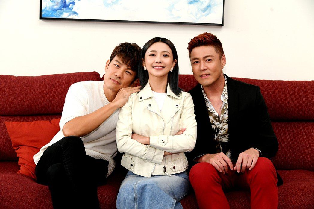 渣男始祖陳志強(左起)回歸「炮仔聲」和吳婉君、劉至翰演對手戲  圖/三立提供