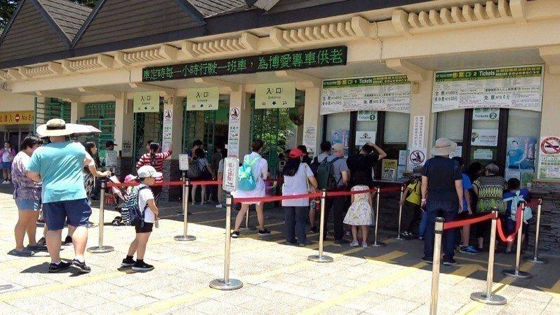 台北市立動物園表示,早於228連假前,進入動物園的民眾,已強制量體溫,若額溫超過37.5度,將婉拒入園。圖/本報資料照
