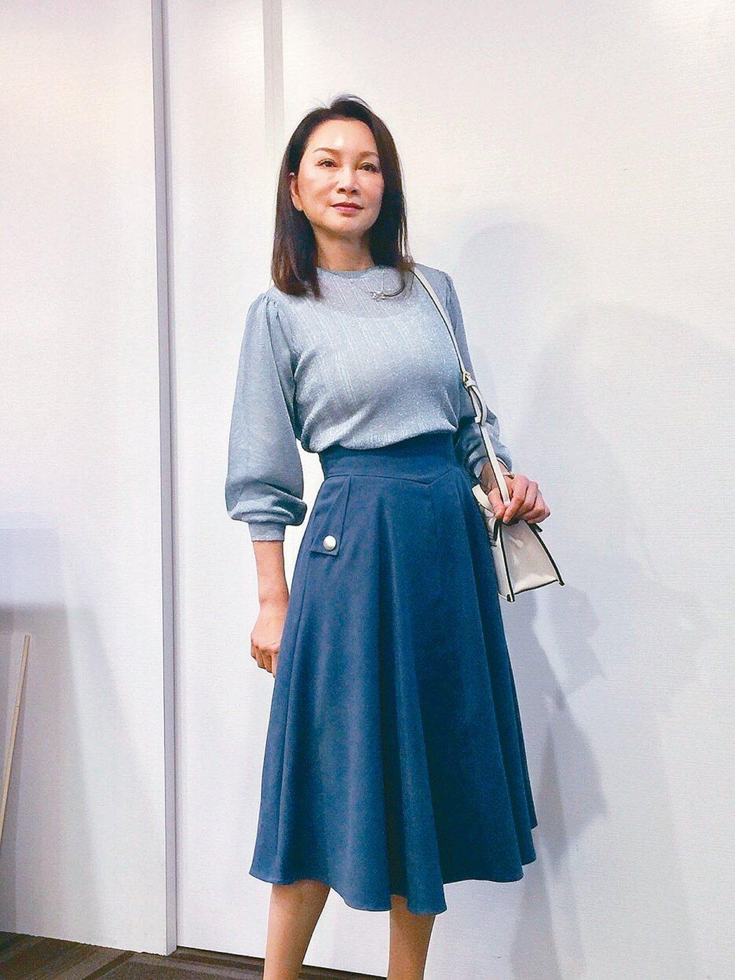 張瓊姿近期拍新戲「粉紅色時光」。 圖/九玖經紀提供