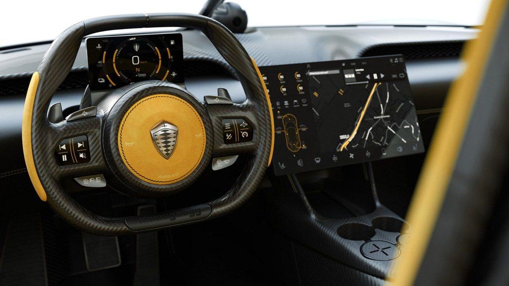Koenigsegg Gemera儀錶板也直接採用液晶螢幕設定。 摘自 Koen...