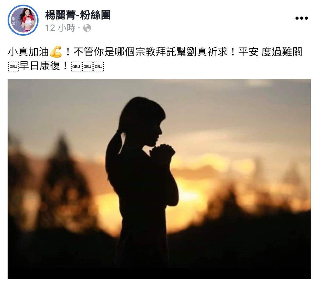 圖/擷自楊麗菁臉書