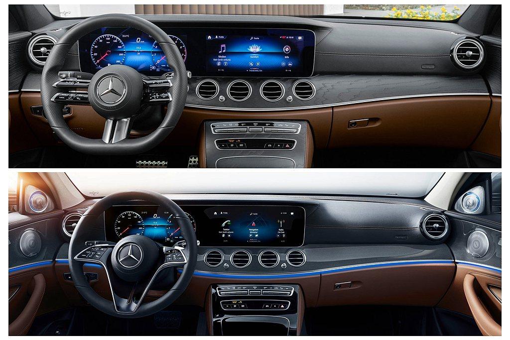小改款賓士E-Class導入雙10.25吋儀表與控台螢幕,也能選配更大的雙12....