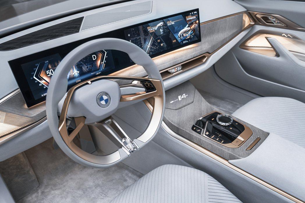 BMW Concept i4 內裝。 摘自BMW