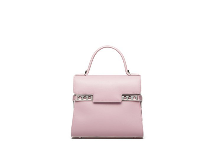 Tempête迷霧粉紫牛皮經典型肩背手提包,售價15萬5,600元。圖/DEL...