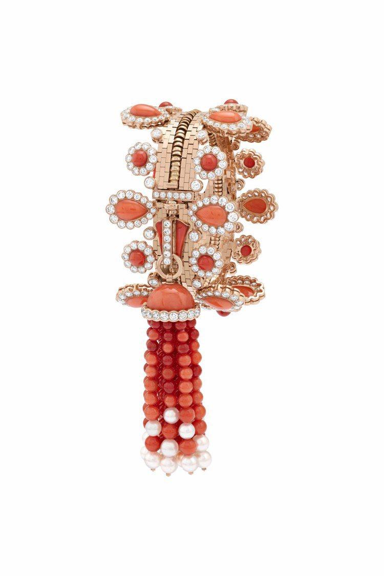 梵克雅寶當代高級珠寶作品Zip Antique Orient項鍊可轉換成手鍊配戴...