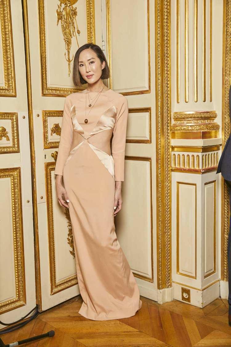 韓裔時尚網紅Chriselle Lim出席CHAUMET芳登廣場總店開幕酒會。圖...