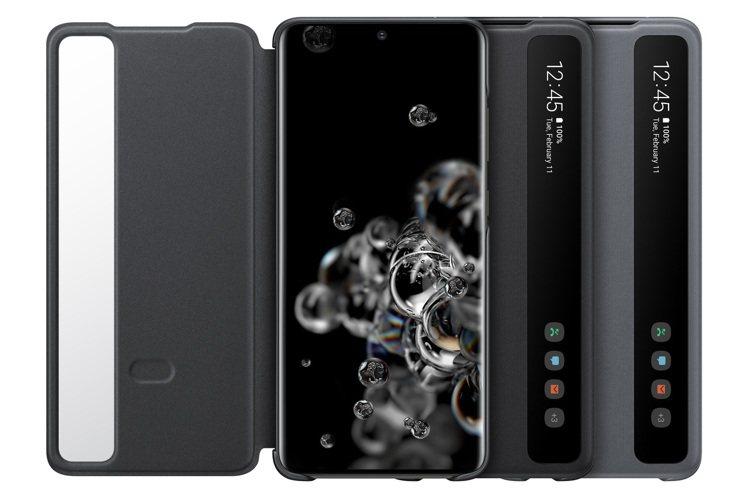 Samsung Galaxy S20旗艦系列全透視感應皮套,售價1,390元。圖...