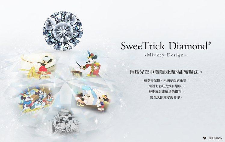 米奇鑽石SweeTrick Diamond特殊的車工在鑽石裡面可以看到米奇的圖騰...