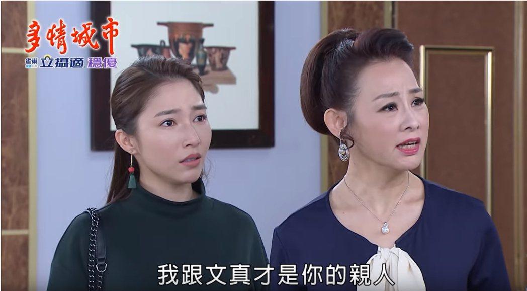 兵家綺(右)、張家瑋「母女」無法接受「外人」介入。圖/民視提供