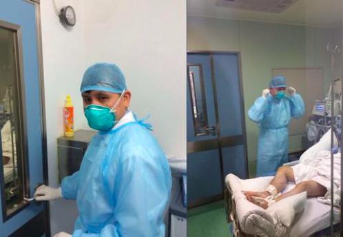 張文宏表示,醫生應該有免於受傷害的權利。「沒有防護,你可以拒絕上崗」。 (今日頭...